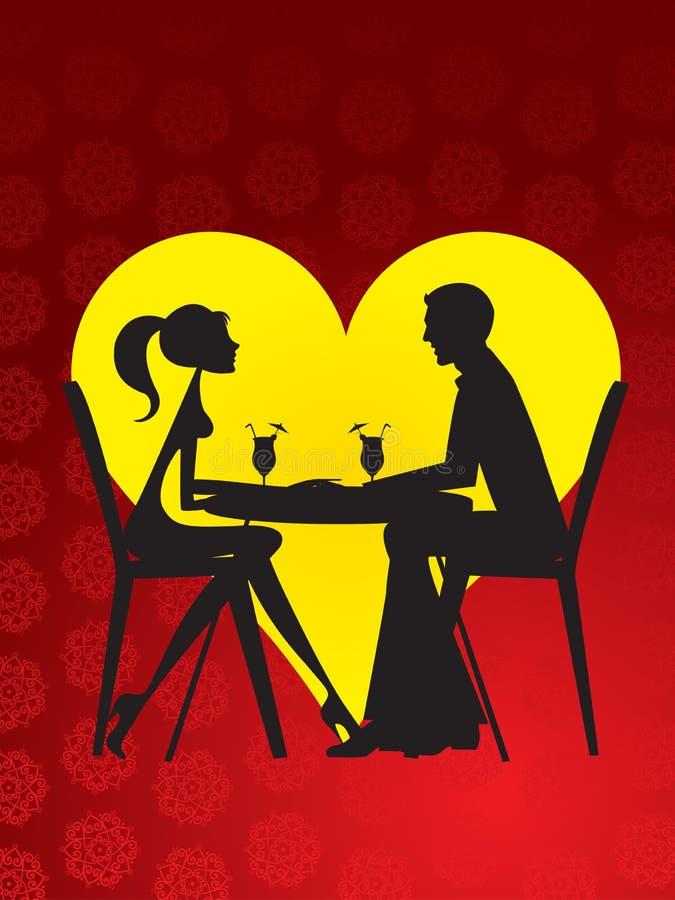 Datierung - Gaststätte stock abbildung