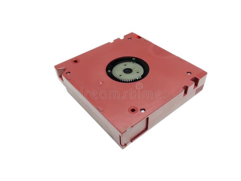 Datilografe o cartucho de dados isolado fotografia de stock