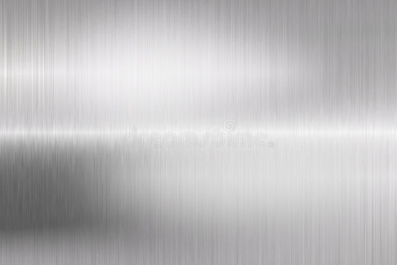 Datilografe o close up escovado da estrutura do metal ilustração stock
