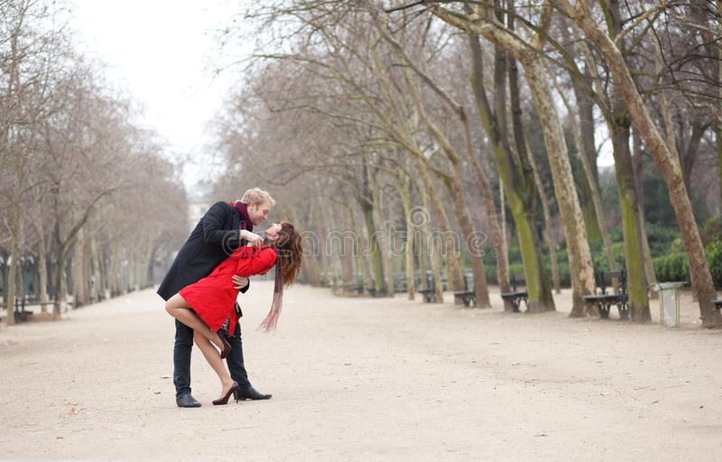 Download Dating Couple Dancing In A Parisian Park Stock Image - Image: 23907657