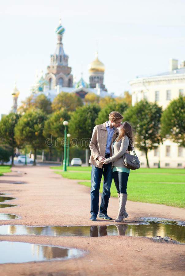 Download Dating Couple Near Church Of The Savior On Blood Stock Photo - Image: 27294286