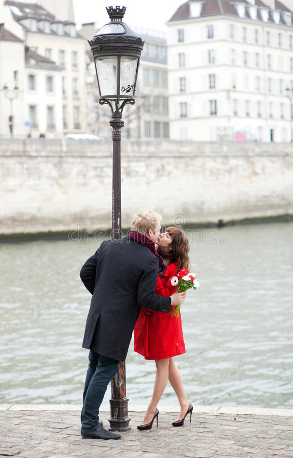 Download Dating couple in Paris stock photo. Image of flora, girl - 26283870