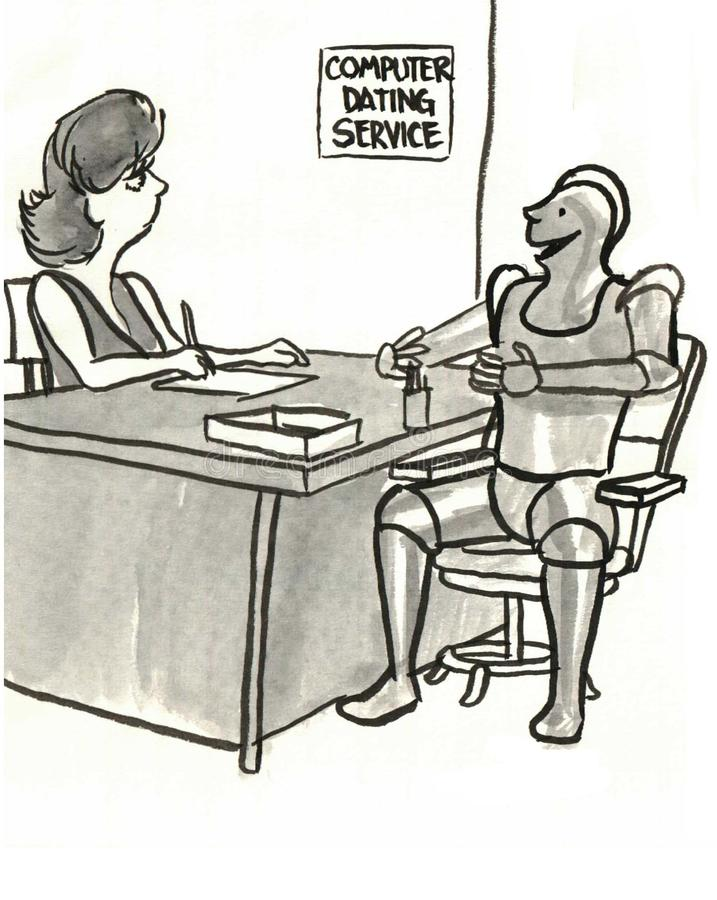 Dating Service stock illustration