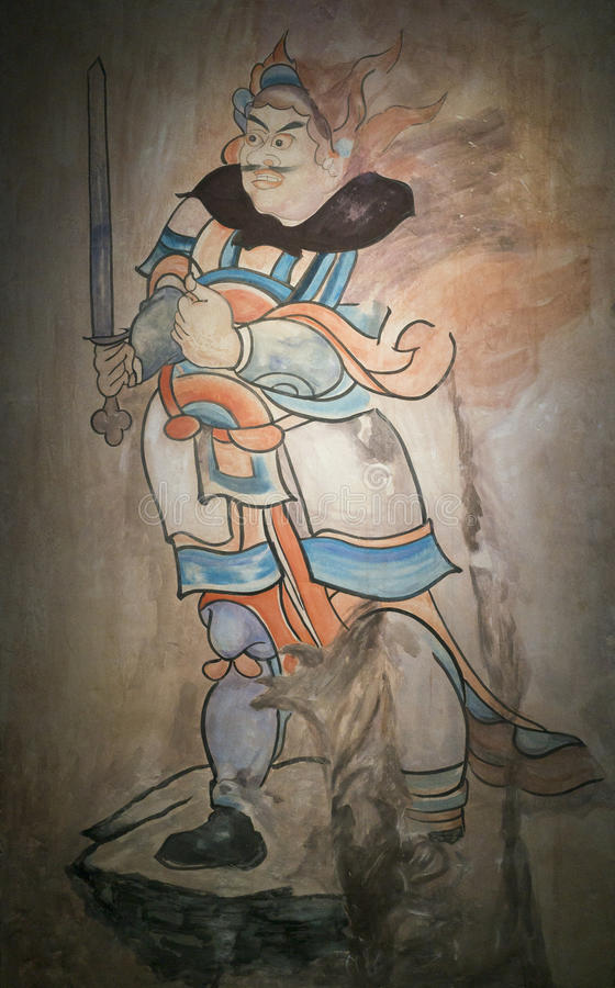 Datong Museum. Chinese Heritage Mural of Datong museum in Datong city, Shanxi province, China royalty free stock photos