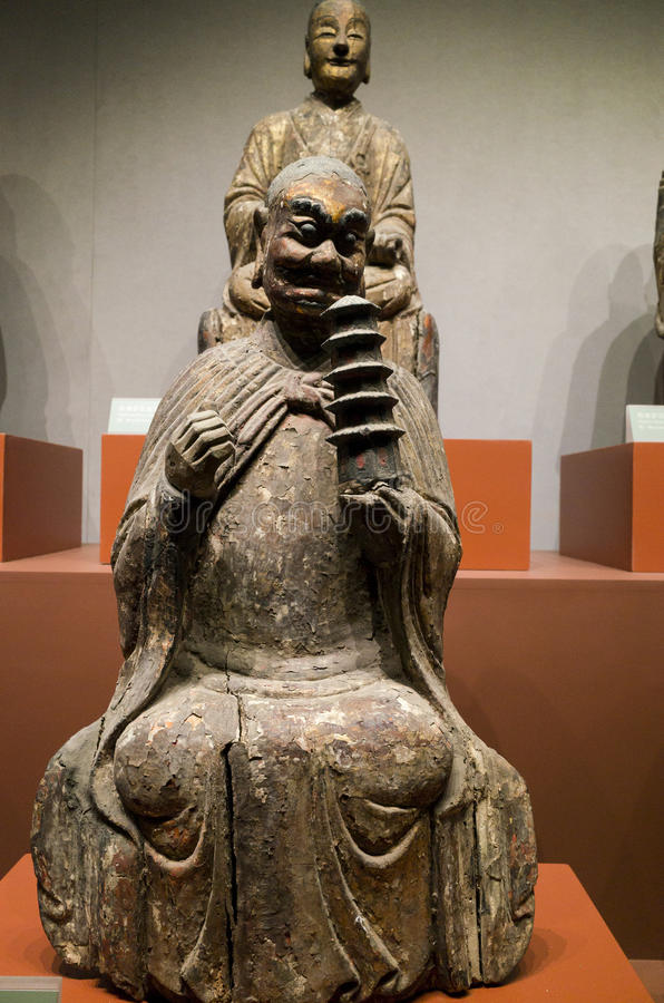 Datong Museum. Clay buddha of Datong museum in Datong city, Shanxi province, China royalty free stock photos