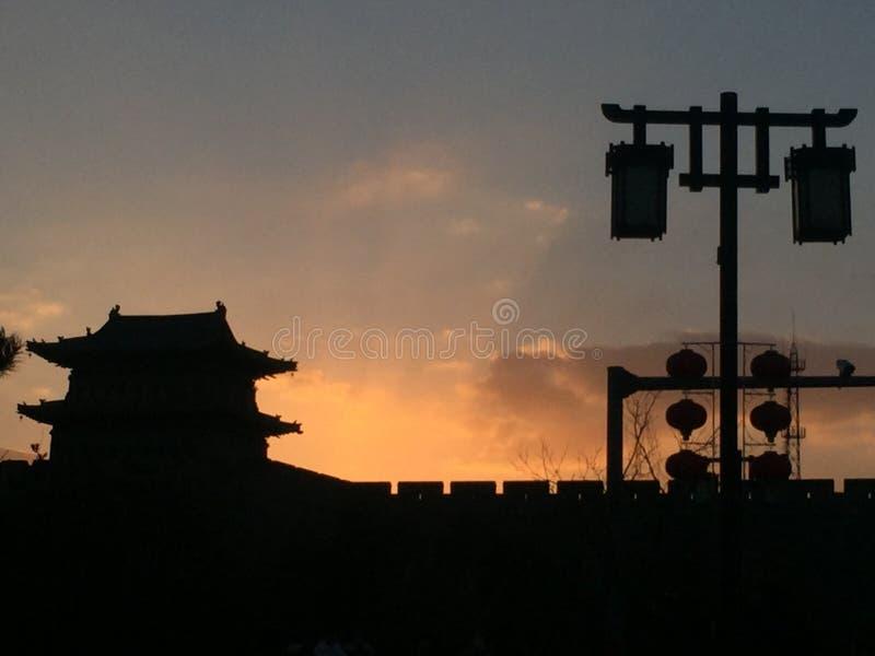 Datong, Shanxi, Porcelanowa ściana antyczny miasto obrazy stock