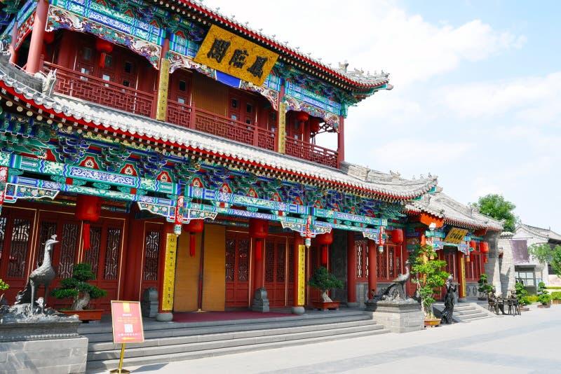 Datong in Shanxi-Provincie van beroemdste restaurant van China ` s het in het paviljoen van Phoenix royalty-vrije stock fotografie