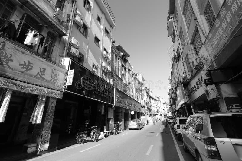 Datonglu road black and white image stock photo