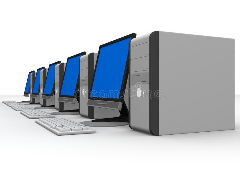dator 3d stock illustrationer