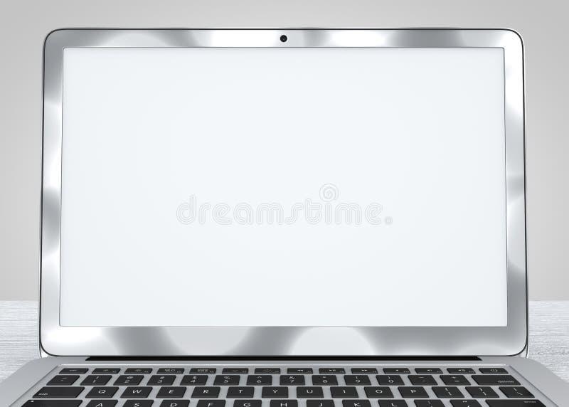 Dator bärbar dator, arbete, diagram, idé Dator stock illustrationer
