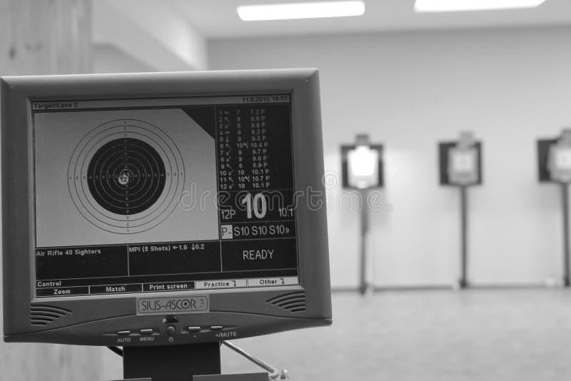 Dator för att skjuta i ett streck royaltyfri foto