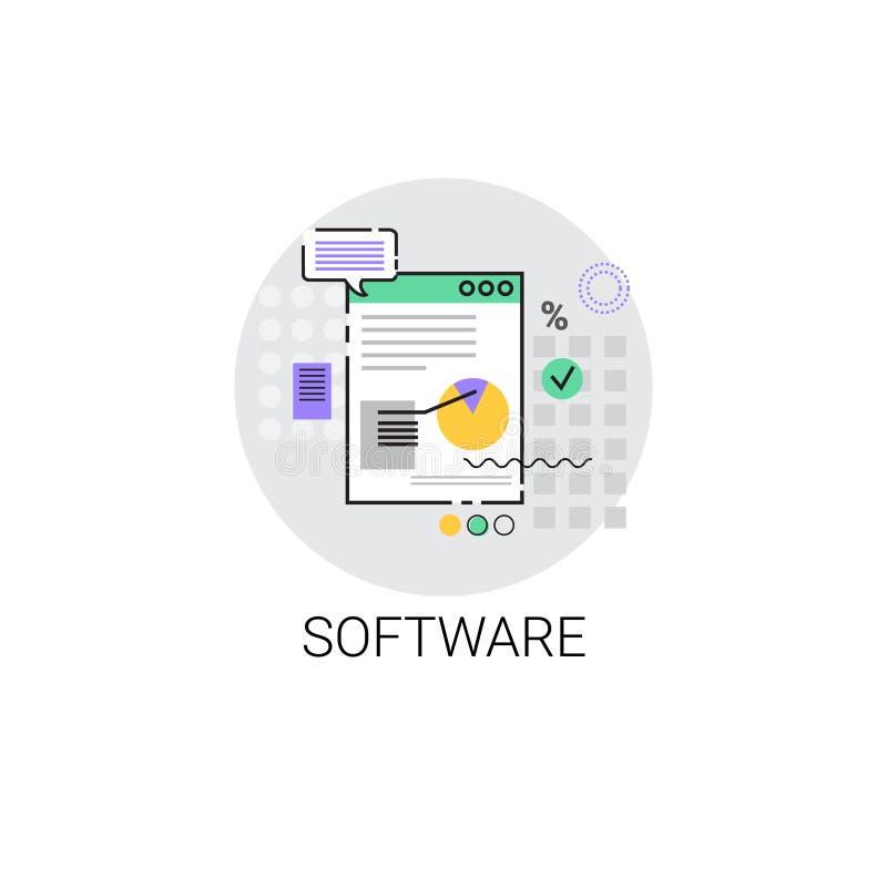 Dator för programvaruutveckling som programmerar apparatteknologisymbolen royaltyfri illustrationer