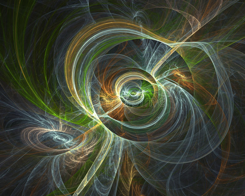 Dator-frambragd fractalbild med utrymmeabstraktion arkivbild