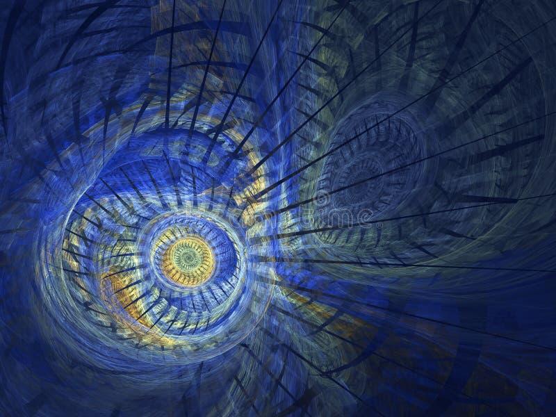 Dator-frambragd fractalbild med virvlar fotografering för bildbyråer