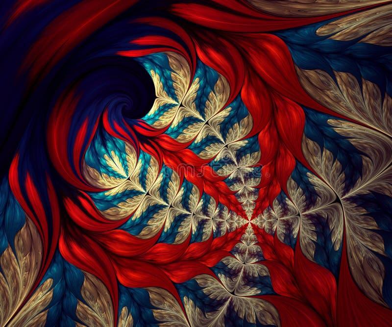 Dator frambragt abstrakt f?rgrikt fractalkonstverk vektor illustrationer