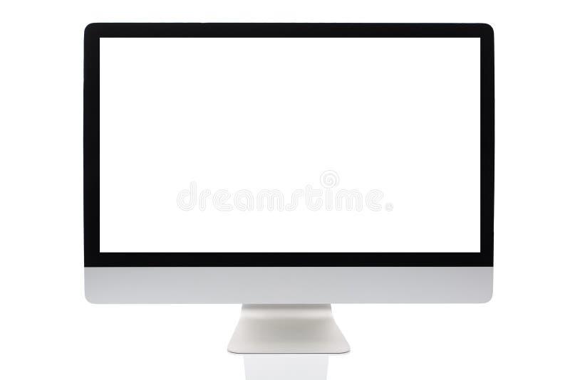 dator isolerad skärm royaltyfri bild