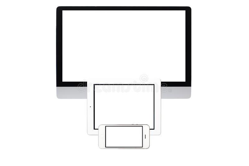 dator isolerad skärm royaltyfri fotografi