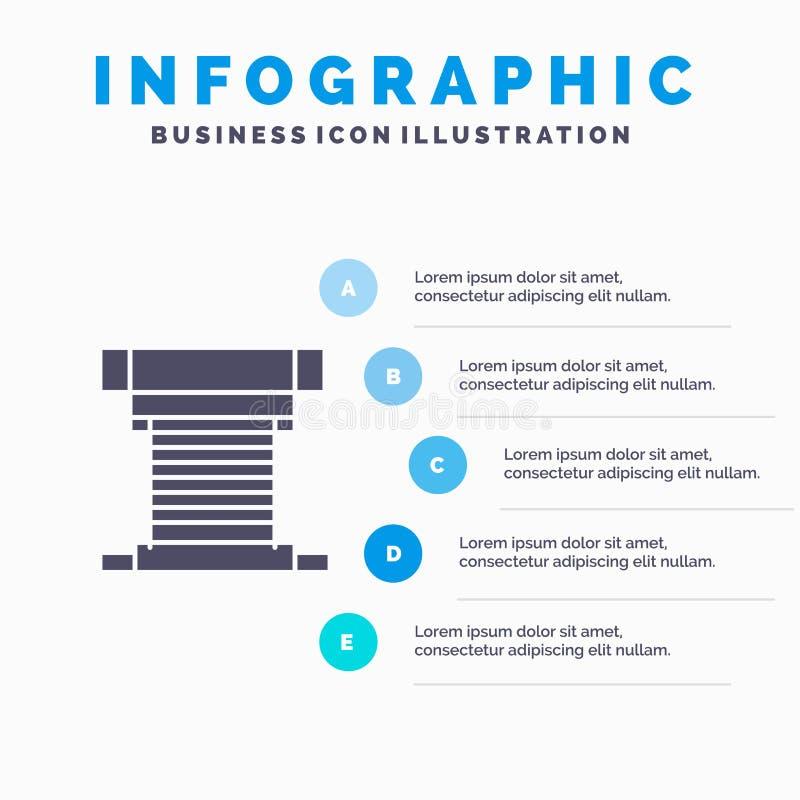 Dator kylare som kyler, CPU, för symbolsInfographics 5 för fan fast bakgrund för presentation moment stock illustrationer