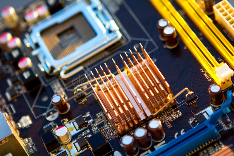 Dator Mainboard arkivfoto