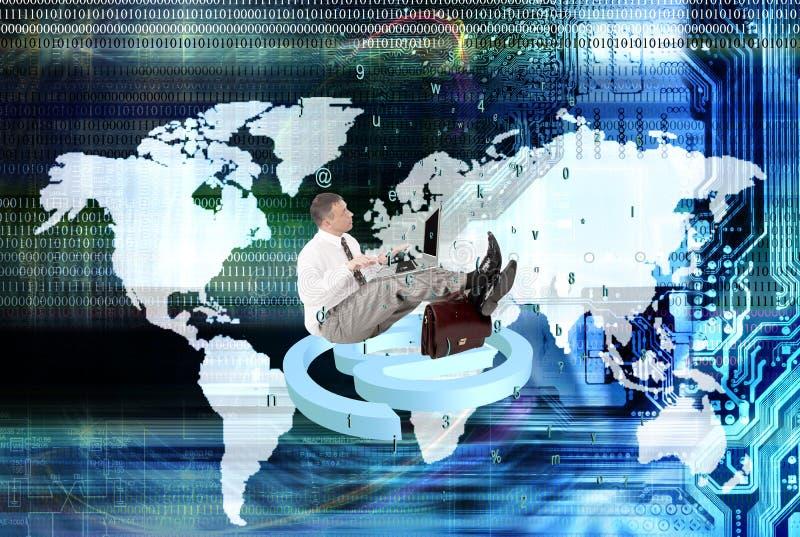Dator som programmerar säkerhetsinternet arkivbilder