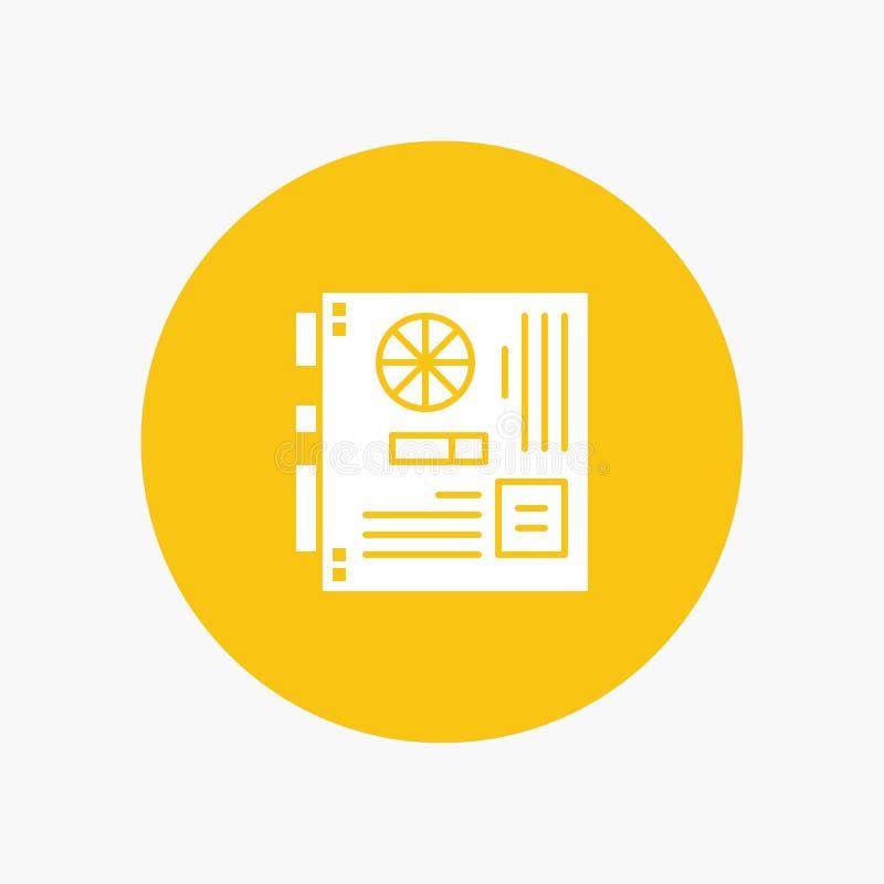 Dator strömförsörjning, Mainboard, moder, moderkort vektor illustrationer