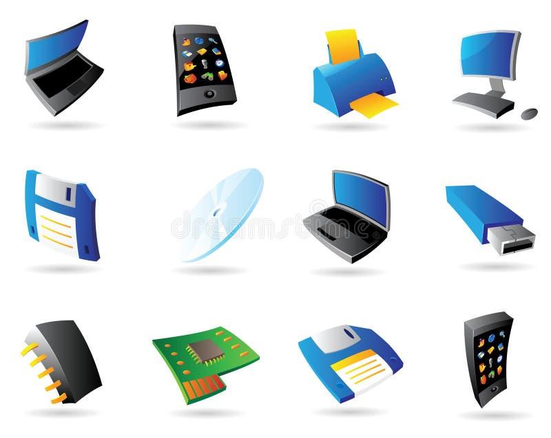 datorapparatsymboler stock illustrationer