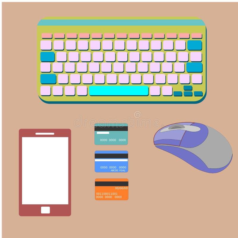 Datorbegrepp stock illustrationer