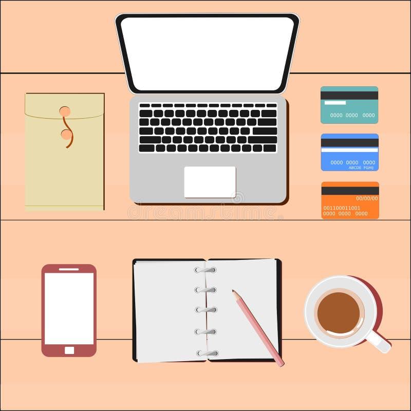 Datorbegrepp royaltyfri illustrationer
