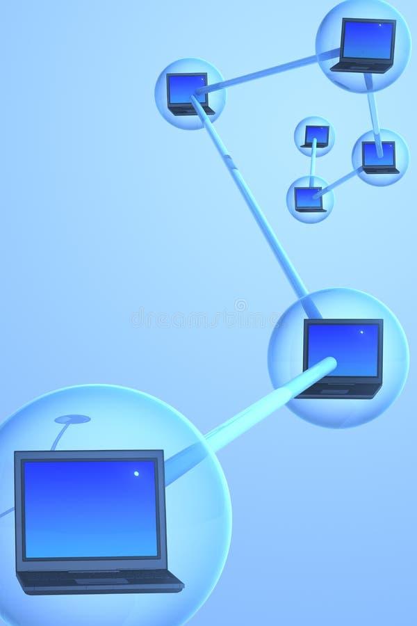 datorbegreppsnätverk stock illustrationer