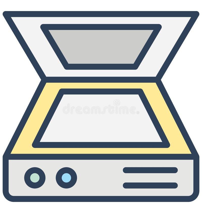Datorbildläsaren, elektronik isolerade vektorsymbolen som kan lätt redigeras i något format eller ändras vektor illustrationer