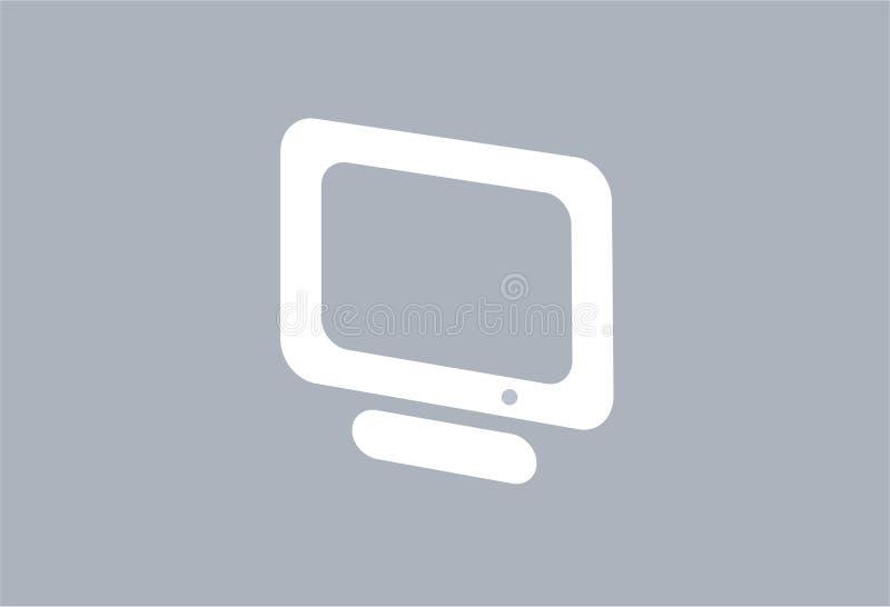 datorbildskärmtft royaltyfri illustrationer