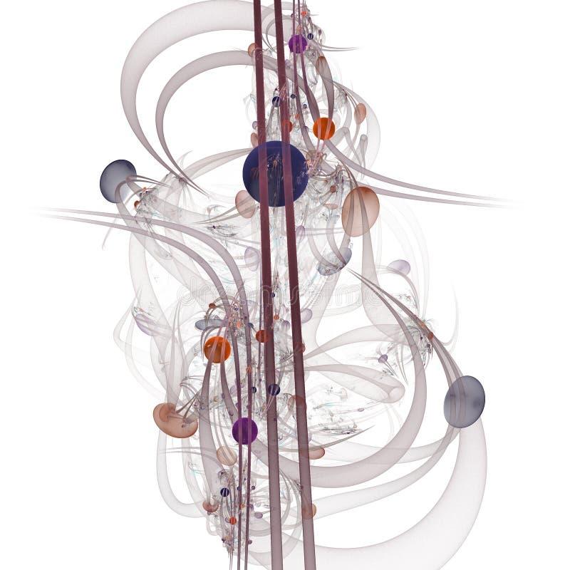 Datordiagram: Marmor på linjer och kurvor med blommor arkivbild
