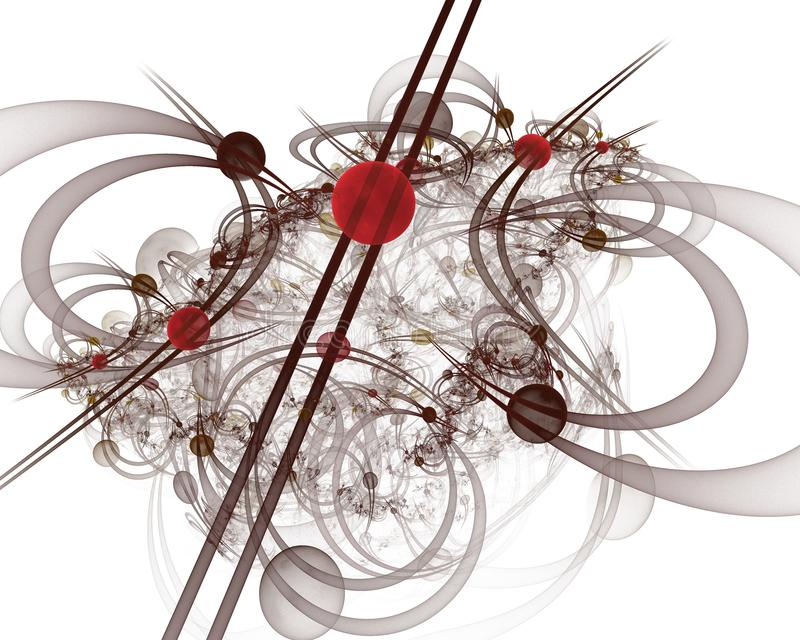 Datordiagram: Marmor på linjer och kurvor med blommor arkivbilder