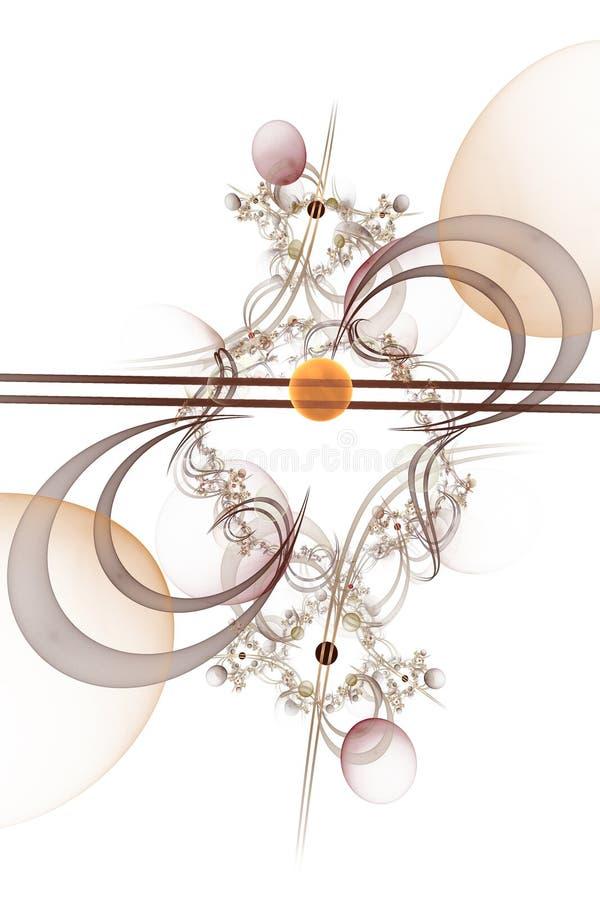 Datordiagram: Marmor på linjer och kurvor med blommor arkivfoton