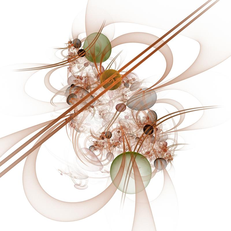 Datordiagram: Marmor på linjer och kurvor med blommor royaltyfri bild