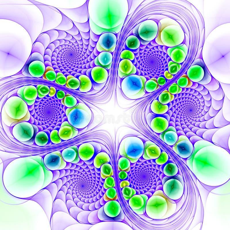 datoren 3d frambragte fractalkonstverk för idérik konst vektor illustrationer