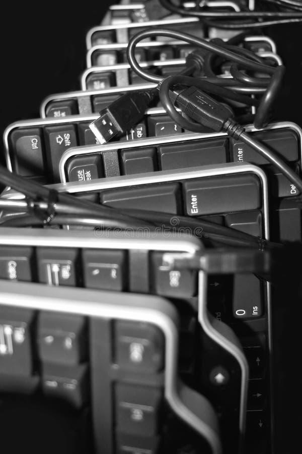 datoren får tangentbord dina arkivbild
