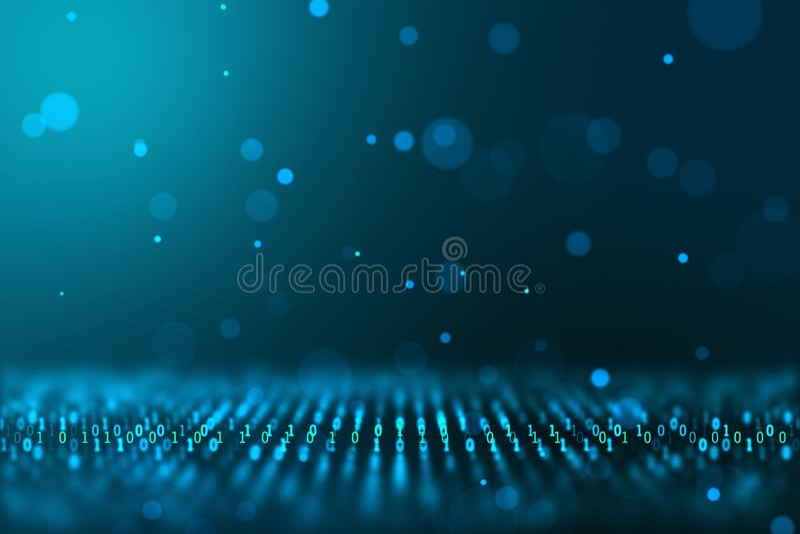 Datoren för begreppet för världen för Digital informationsteknik frambragte den binära bakgrund royaltyfria bilder