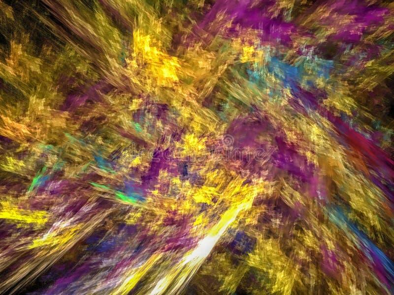 Datoren frambragte abstrakt spiral fractalflammabild arkivbild