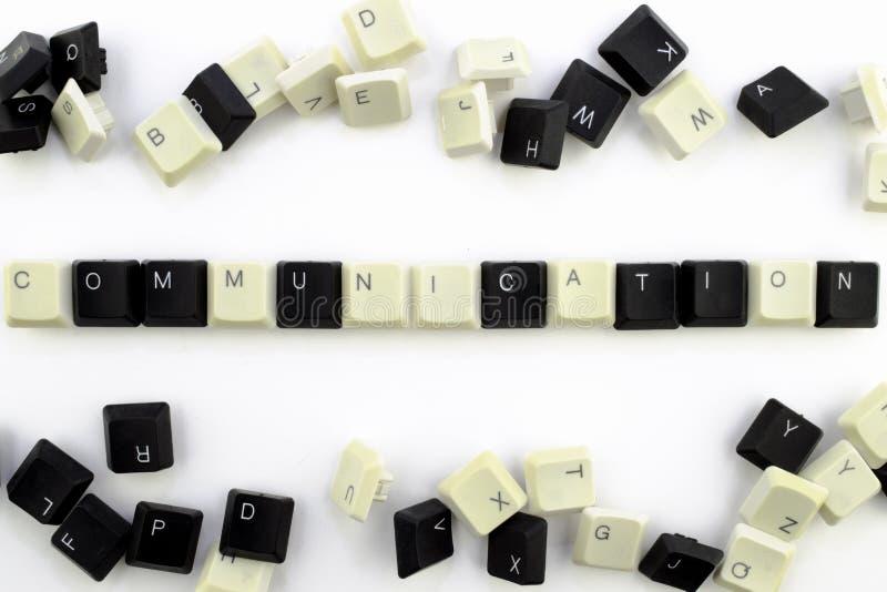 Datorer och datatekniker i branscher och f?lt av m?nsklig aktivitet - begrepp Kommunikation P? en vit bakgrund royaltyfria bilder