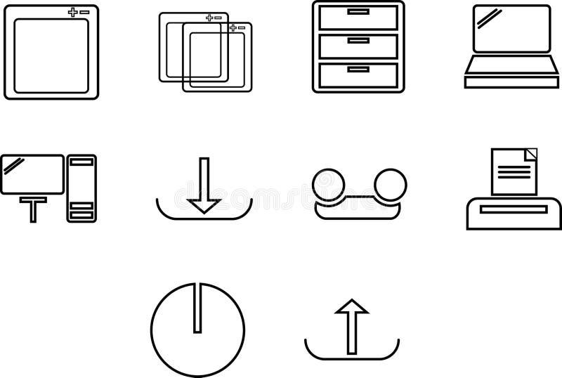 Datorer och programvara - UI stock illustrationer