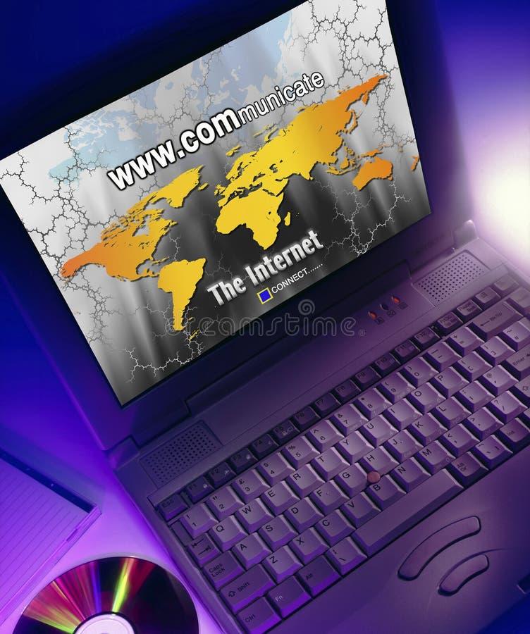 Datorer - world wide web - internet vektor illustrationer