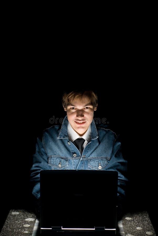 datorhacker royaltyfri bild