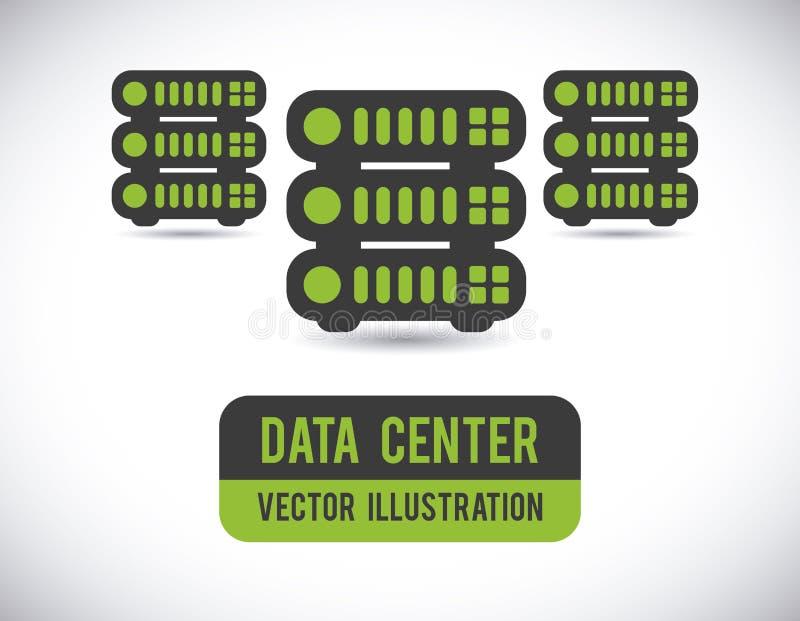 Datorhalldesign royaltyfri illustrationer
