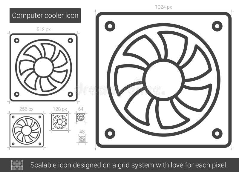 Datorkylarelinje symbol stock illustrationer