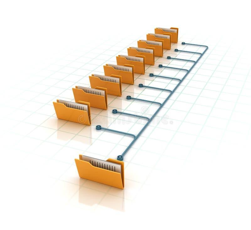 Datormappar stock illustrationer