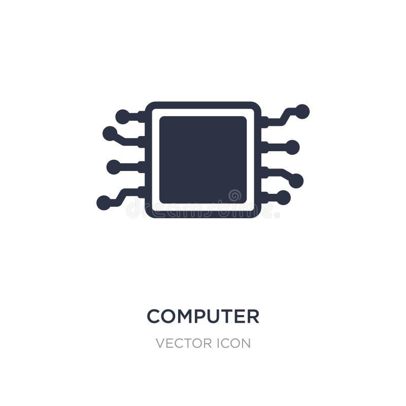 datormikroprocessorsymbol på vit bakgrund Enkel beståndsdelillustration från teknologibegrepp royaltyfri illustrationer