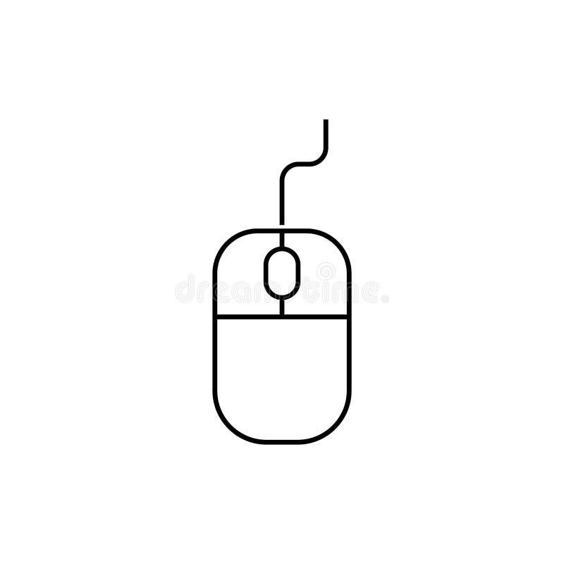 Datormussymbol p? vit bakgrund stock illustrationer
