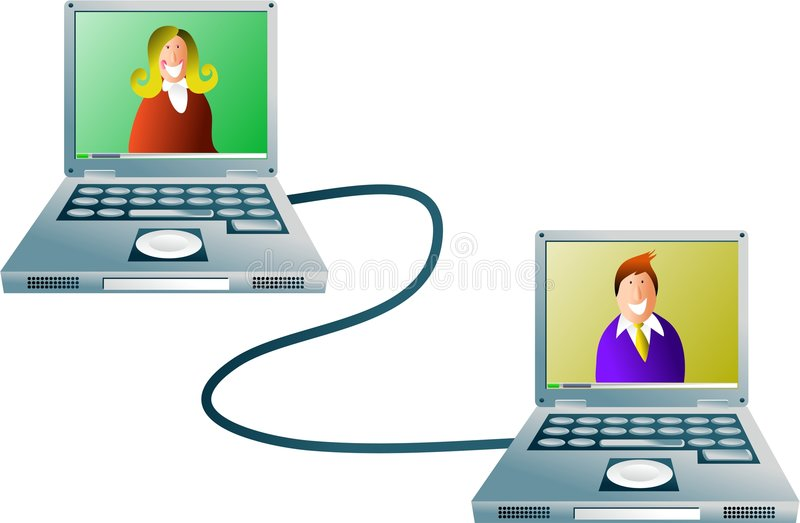 datornät stock illustrationer