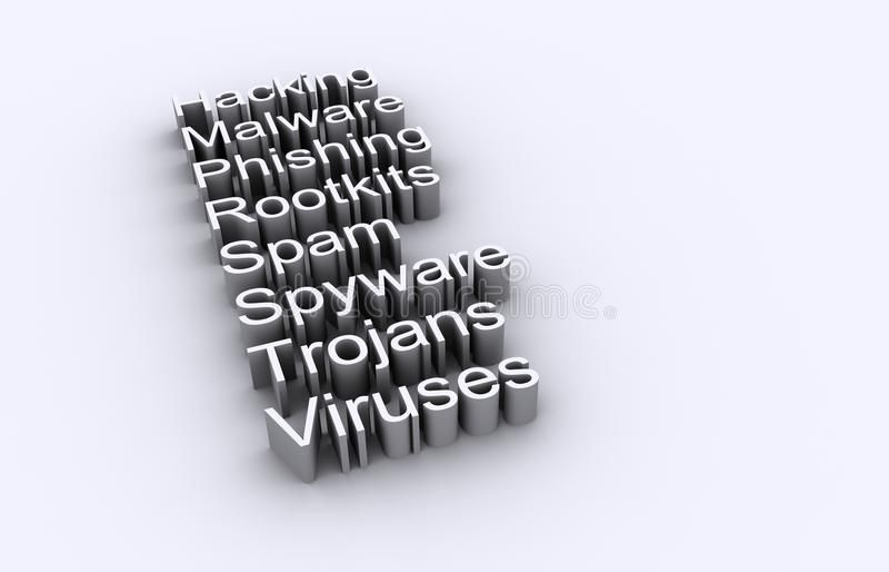 datornätsäkerhet stock illustrationer